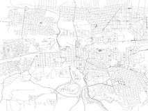 Streets of Pretoria, city map, South Africa. Street map. Vector map of the city of Pretoria stock illustration