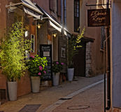 Streets of Provence. A view of the streets of Provence and boutiques royalty free stock image