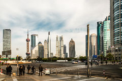 Streets of pudong shanghai china Stock Images