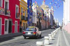Streets of Puebla City, Mexico Stock Photos
