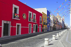 Streets of Puebla City, Mexico Royalty Free Stock Photos