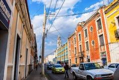 Streets of Puebla, Mexico Royalty Free Stock Image
