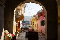 Streets of Pushkar City, India Royalty Free Stock Images