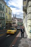 Streets of Quito royalty free stock photo