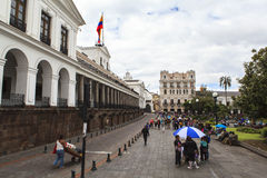 Streets of Quito Central, Ecuador Royalty Free Stock Photo