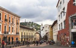 Streets of Quito Central, Ecuador Stock Photos
