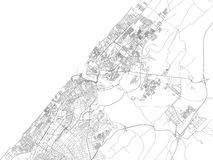 Streets of Rabat, city map, capital, Morocco Royalty Free Stock Photography