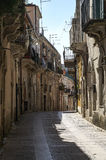 Streets of Ragusa. Street at Ragusa, Sicily, Italy Stock Image