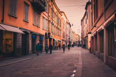 Streets in Reggio Emilia Royalty Free Stock Photography