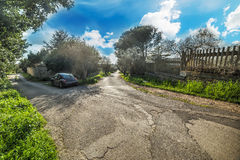 Streets of a residential neighborhood Royalty Free Stock Photography