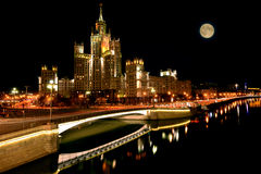 Streets by the river in the historical center of Moscow. Stock Photography