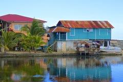 Streets of Roatan, Honduras Stock Photography
