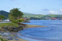 Streets of Roatan, Honduras Stock Photography