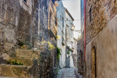 Streets of romantic old village Stock Photo