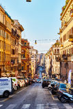 Streets of Rome are full of traffic and people throughout the day in Rome Royalty Free Stock Photography