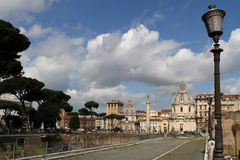 Streets of Rome near the Imperial Forum Royalty Free Stock Photo