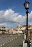 Streets of Rome near the Imperial Forum Stock Photo