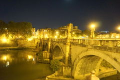 Streets of Rome at Night Royalty Free Stock Images