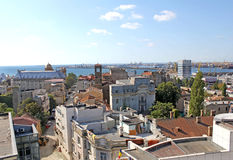 Streets and roofs Constanta Romania. Streets and roofs in old Town Constanta Romania Stock Image