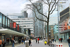 On the streets of Rotterdam. Royalty Free Stock Photo
