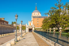 In the streets of Royal City Aranjuez. ARANJUEZ,SPAIN - APRIL 24,2016 - In the streets of Royal City Aranjuez .Aranjuez is a town and municipality lying 42 Royalty Free Stock Images