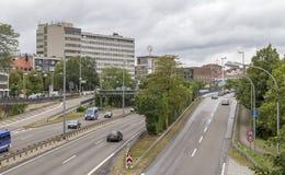 Streets in Saarbruecken Stock Photo