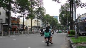 Streets of Saigon stock video footage
