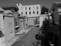 Streets of Saint Louis Cemetery Number One, New Orleans, Louisiana royalty free stock photos