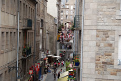 Streets of Saint-Malo Royalty Free Stock Photo