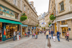 In the streets of Saint-Malo. Royalty Free Stock Photo