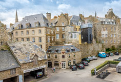 In the streets of Saint-Malo. Royalty Free Stock Image