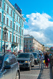Streets of Saint Petersburg Royalty Free Stock Photo