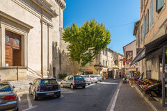 In the streets of Saint-Remy-de-Provence Stock Images