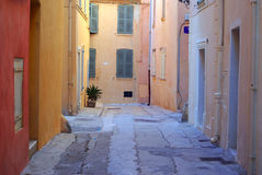 Streets of Saint Tropez. Picturesque streets of Saint Tropez Royalty Free Stock Images