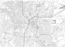 Streets of San Antonio, city map, Texas. Roads and urban area. United States of America Stock Photo