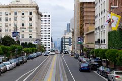 The streets of San Francisco stock images