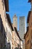 Streets of San Gimignano, landmark Stock Photo