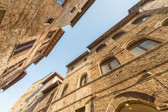 Streets of San Gimignano, Tuscany - Italy Stock Photo