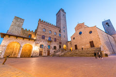 Streets of San Gimignano, Tuscany - Italy Stock Photography