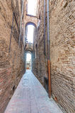 Streets of San Gimignano, Tuscany - Italy Royalty Free Stock Images