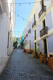 Streets of San Juan Puerto Rico. The beautiful and colorful streets of San Juan Puerto Rico royalty free stock images