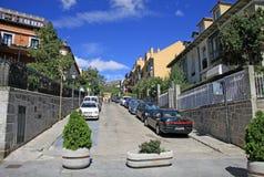 Streets of the San Lorenzo de El Escorial, SPAIN Stock Photography