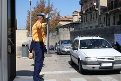 On the streets San Marino. Royalty Free Stock Photos