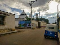 Streets of San Pedro Apostal, Oaxaca in Mexico. royalty free stock images
