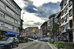 Streets of San Vicente de la Barquera Royalty Free Stock Photos