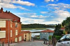 Streets of San Vicente de la Barquera Royalty Free Stock Images