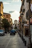 Streets of Santa Fe, Granada Stock Image