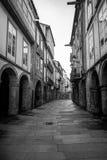 Streets of Santiago de Compostela. Photograph of a street in Santiago de Compostela, Galicia, Spain royalty free stock photography