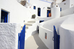 The streets of Santorini Stock Images
