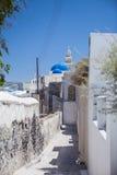 Through the streets of Santorini in Greece Royalty Free Stock Photos